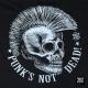 Koszulka męska z czachą i napisem Punk's Not Dead! (M/B/BL)